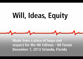 Video: Will, Ideas, Equity